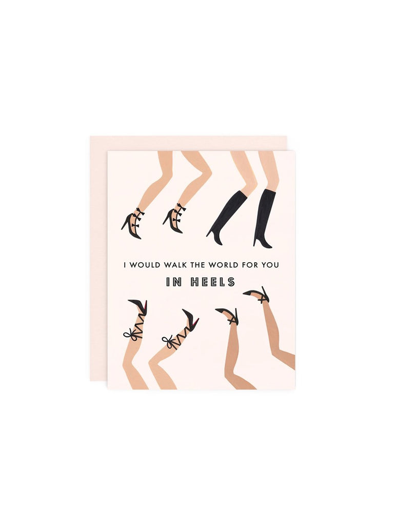Walk the World Heels Card