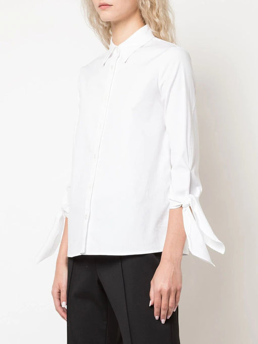 Button-Down Cuff Tie Shirt