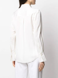 Ruffle Long Sleeve Tux Blouse Photo 4