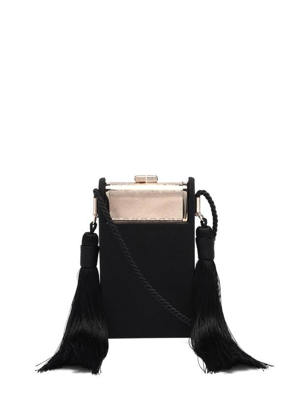 Palladium Satin Black Crossbody Mini Bag