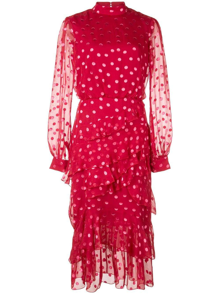 Isa Polka Dot Midi Dress