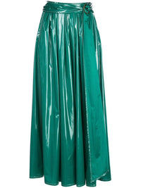 Glossy Belted Skirt Photo 1