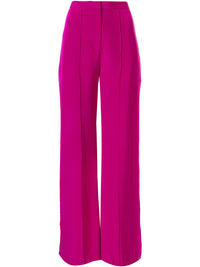 Wide-leg Crepe Fuchsia Pant Photo 1