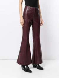 Charles Flare Leather Trousers Photo 3