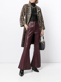 Charles Flare Leather Trousers Photo 2