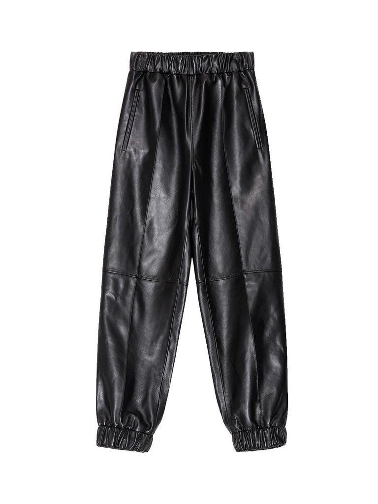 Leather Jogger Pant