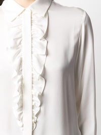 Ruffle Long Sleeve Tux Blouse Photo 2