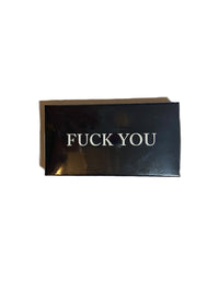 """F You, F Me"" Embossed Matchbox Photo 1"
