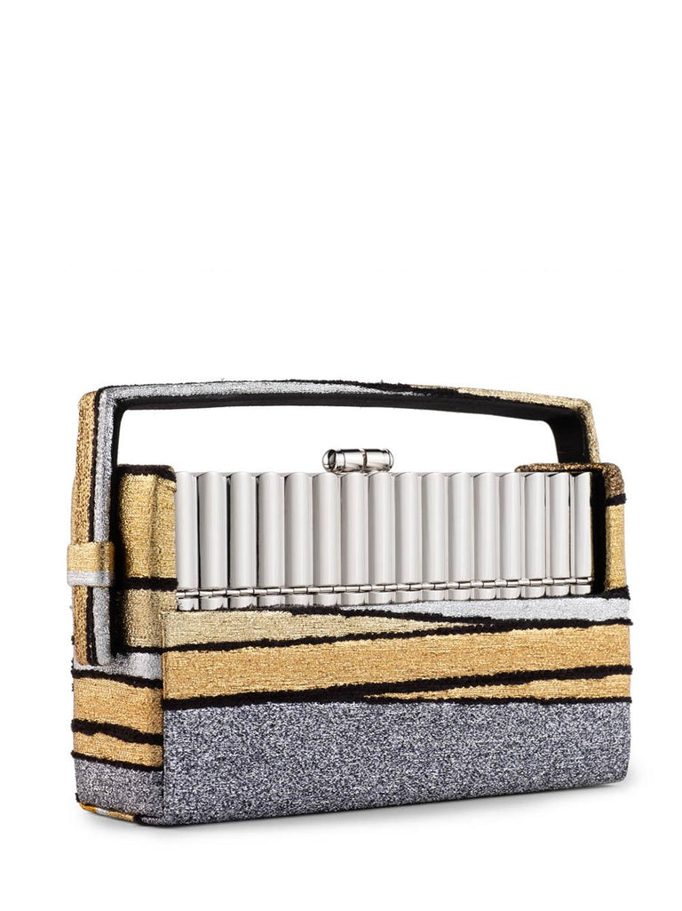 Xenon Gold Stripe Minaudière Bag