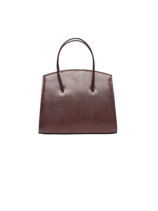 Top Handle Minimal Mini Lizzard Embossed Bag