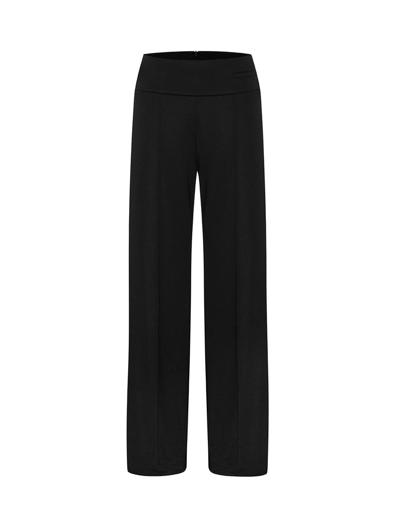 High Waisted Stretch Jersey Trouser