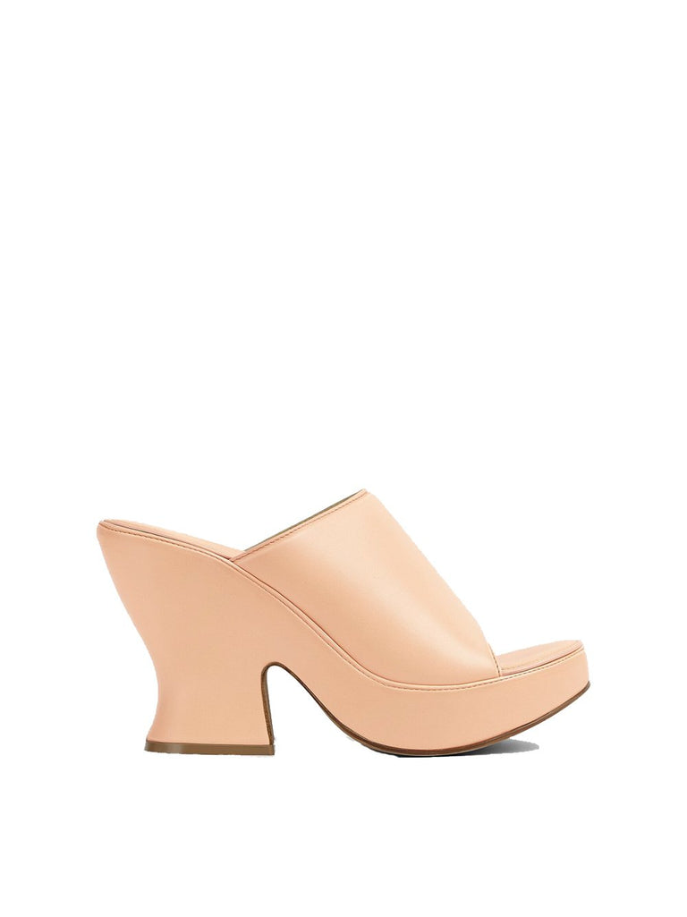 Platform Nappa Leather Mule