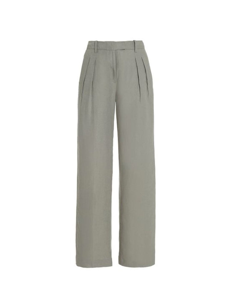 Linen Pleated Wide Leg Pant
