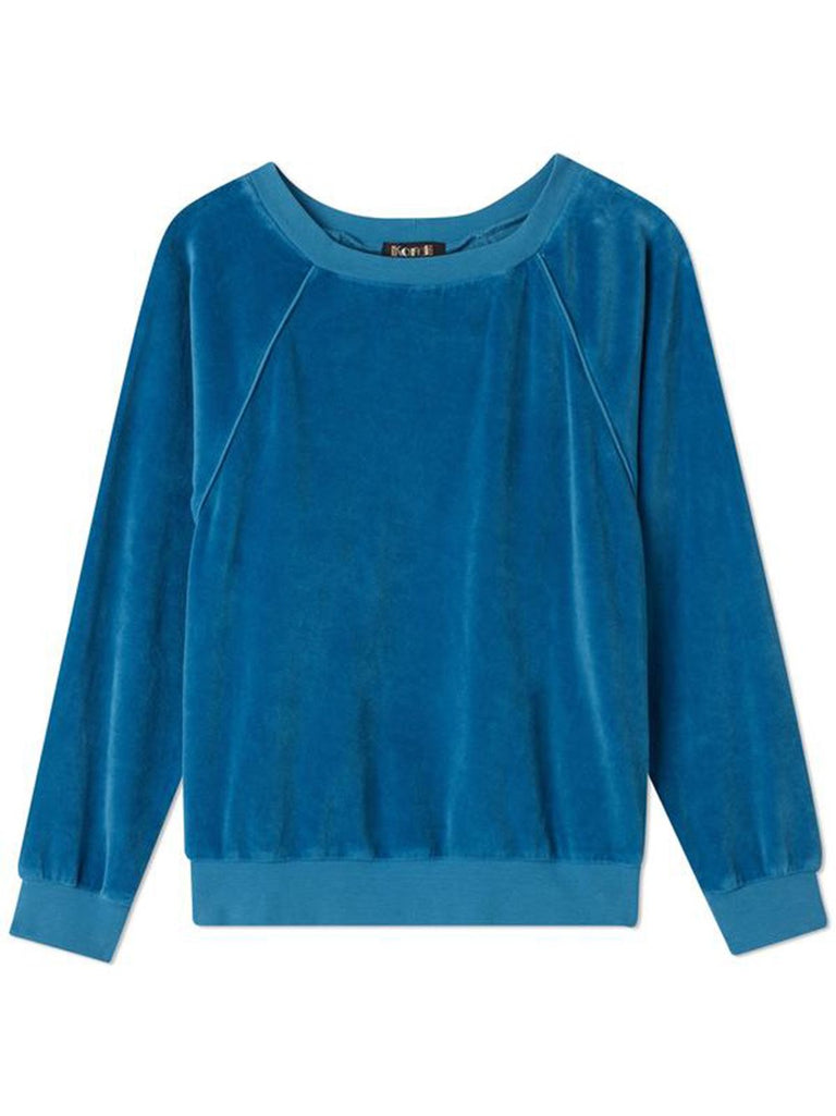 Raglan Velour Long Sleeve Top