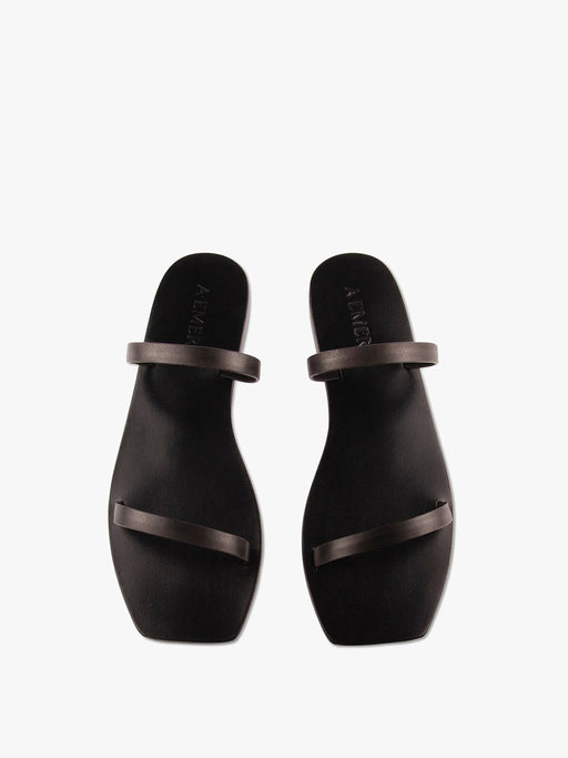 Lola Double Strap Leather Slide