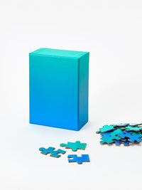 Blue Green Gradient Puzzle Photo 1