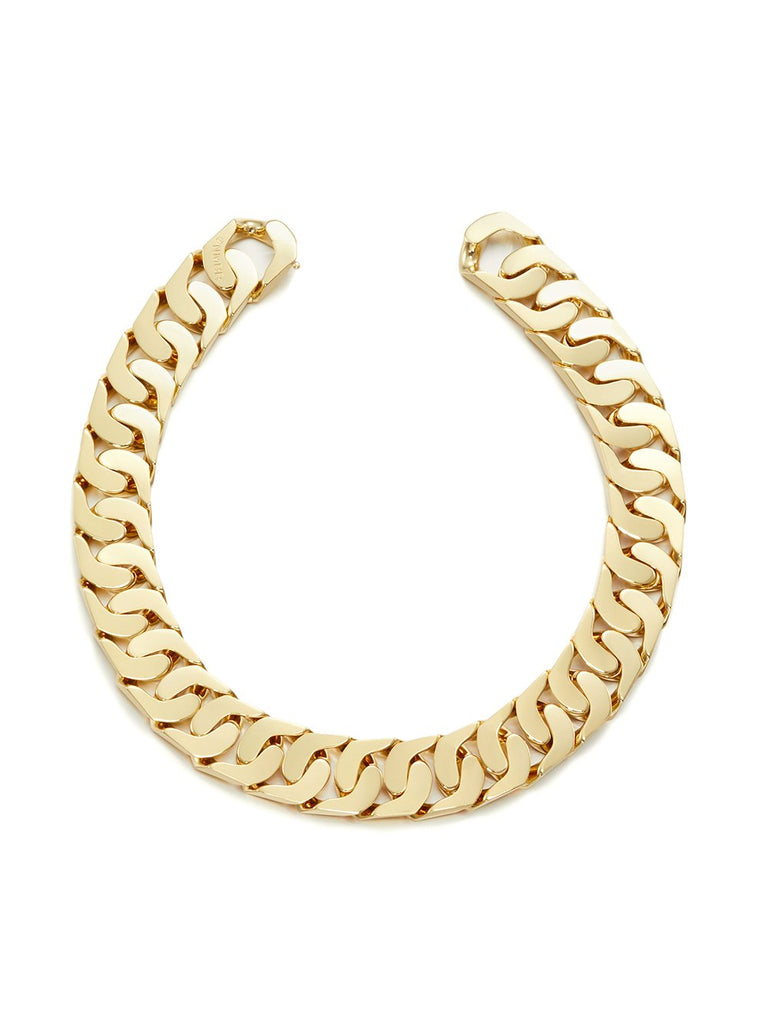 Hidden Lock Chain Gold Necklace