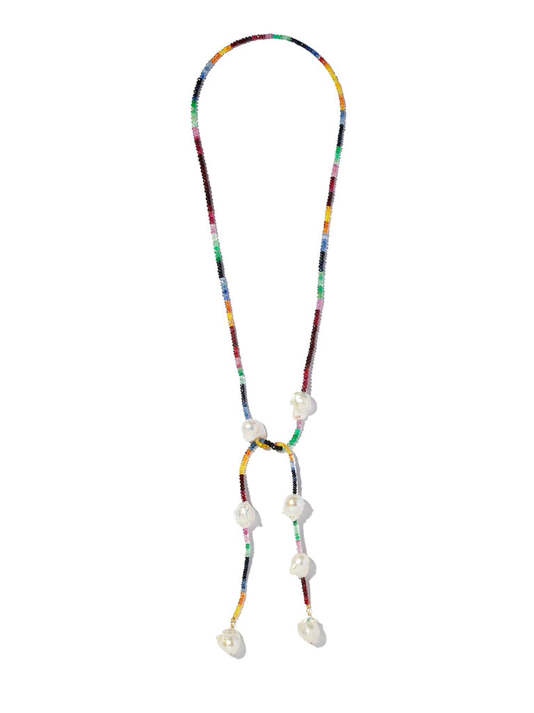 Ruby, Emerald and Sapphire Rockstar Lariat