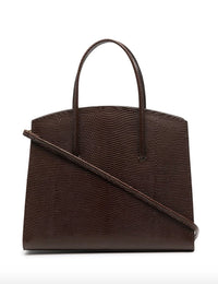 Top Handle Minimal Mini Lizzard Embossed Bag Photo 3