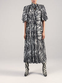 Zebra Print Midi Dress Photo 2