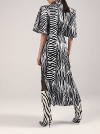 Zebra Print Midi Dress Photo 3