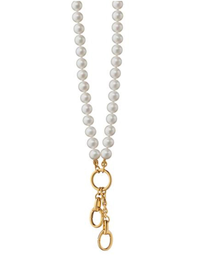 Pearl Chain Charm Enhancer Necklace
