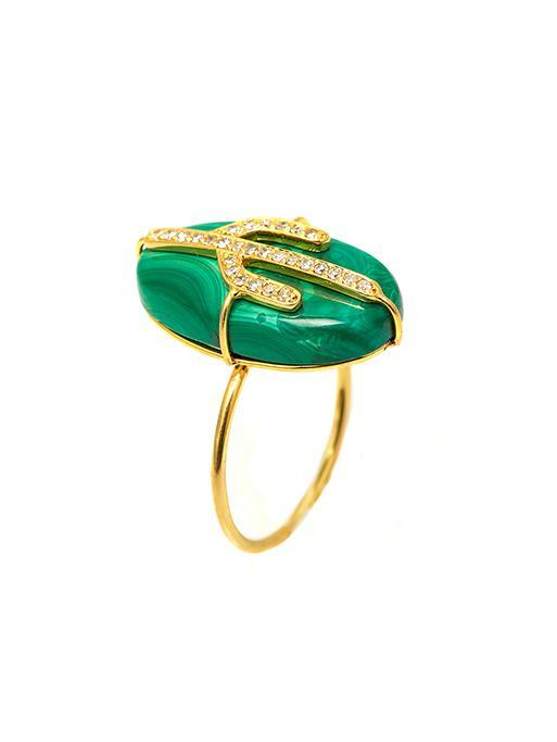Cactus Malachite Ring