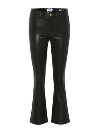 Le Crop Flare Leather Pant Photo 1
