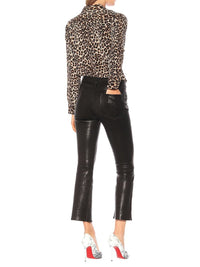 Le Crop Flare Leather Pant Photo 3