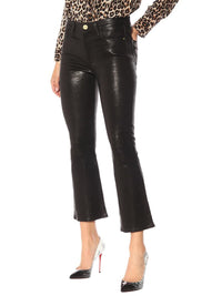 Le Crop Flare Leather Pant Photo 4