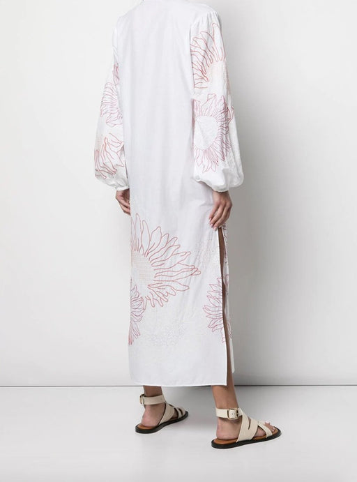 Mayfair Caftan Slide Slit Embroidered Dress