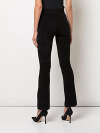 Bonded Neoprene Cropped Flare Pant in Black Photo 3