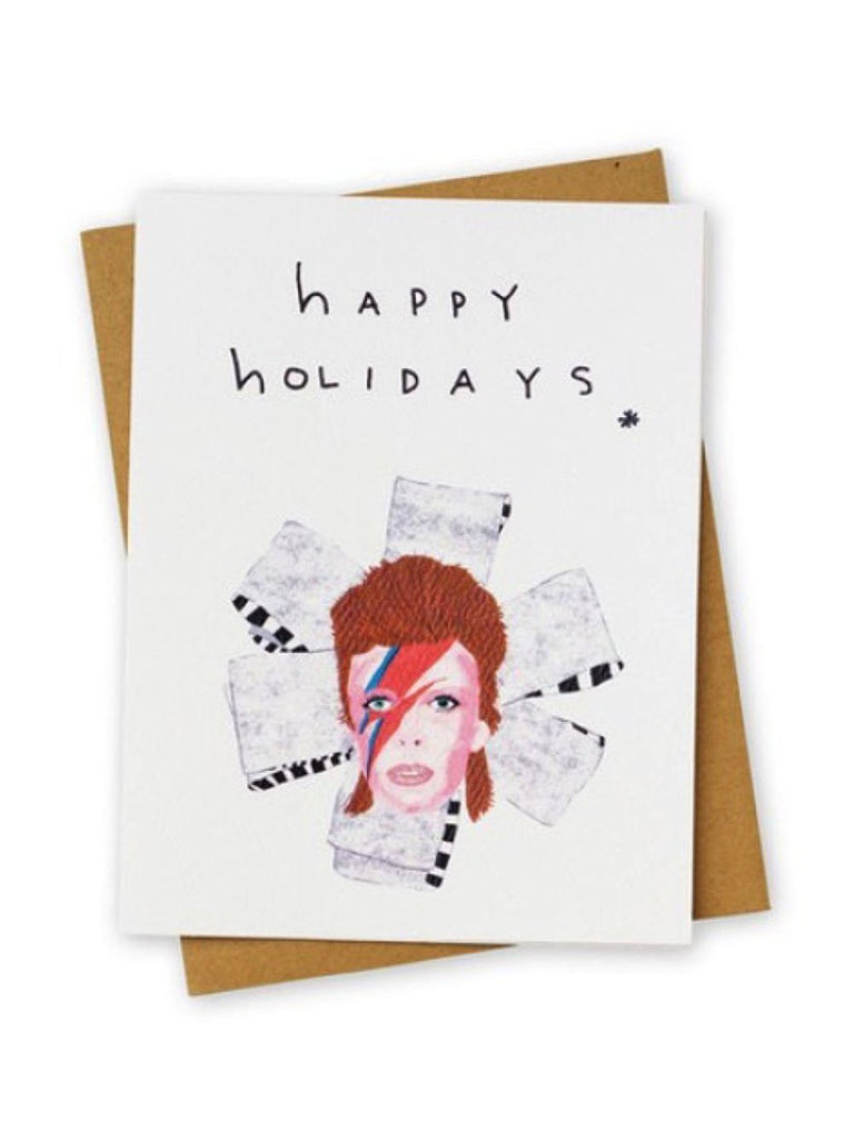 'Happy Holidays' Bowie Card