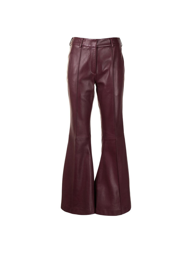 Charles Flare Leather Trousers
