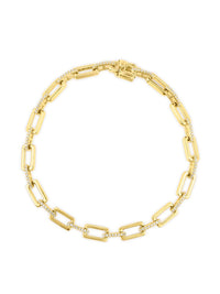 14KT Yellow Gold Diamond Peyton Links Bracelet Photo 1