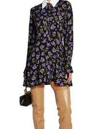 Floral Shirt Mini Dress Photo 2