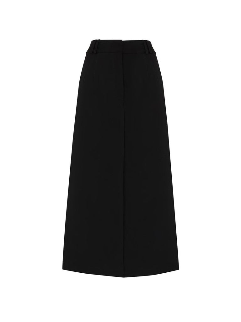 Mid Rise Midi Split Skirt
