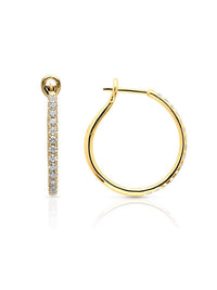 Yellow Gold Diamond Kaia Hoop Earrings Photo 1