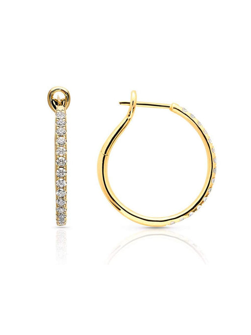 Yellow Gold Diamond Kaia Hoop Earrings