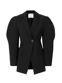 Tropical Wool Cutout Sleeve Blazer Photo 1