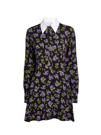 Floral Shirt Mini Dress Photo 1