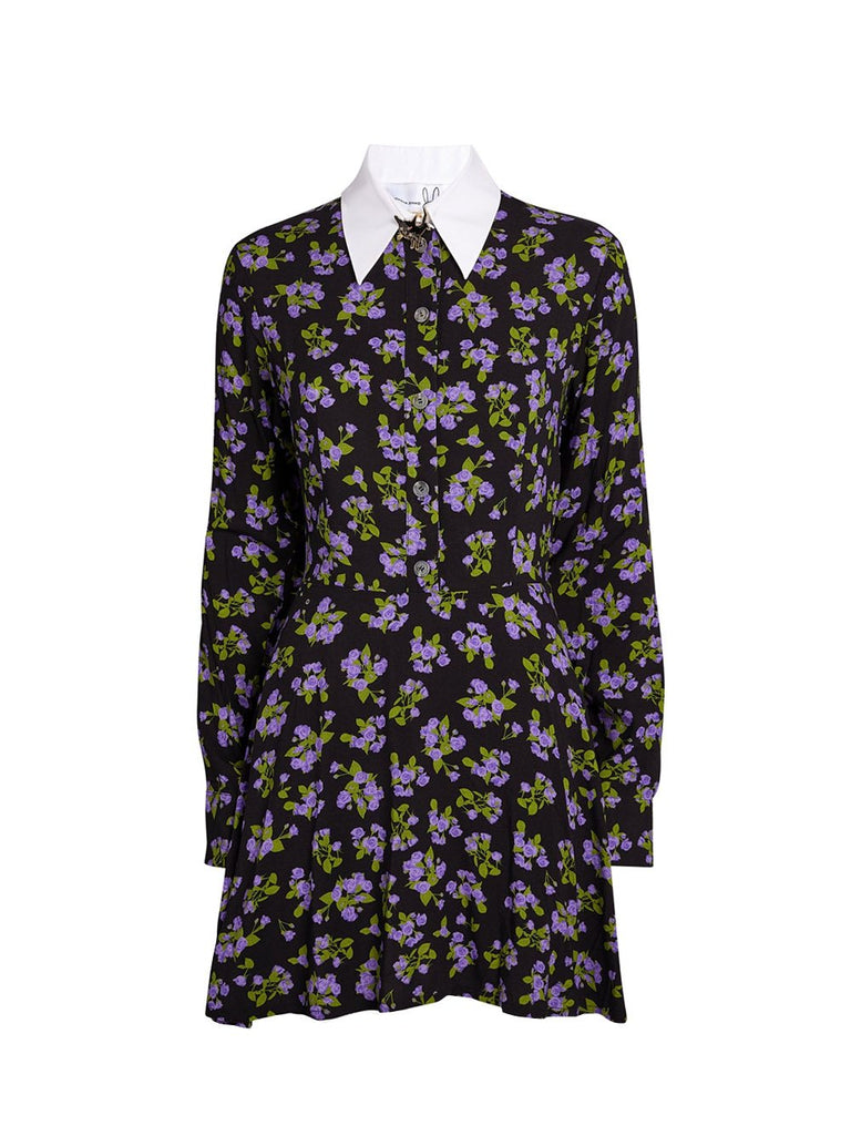 Floral Shirt Mini Dress