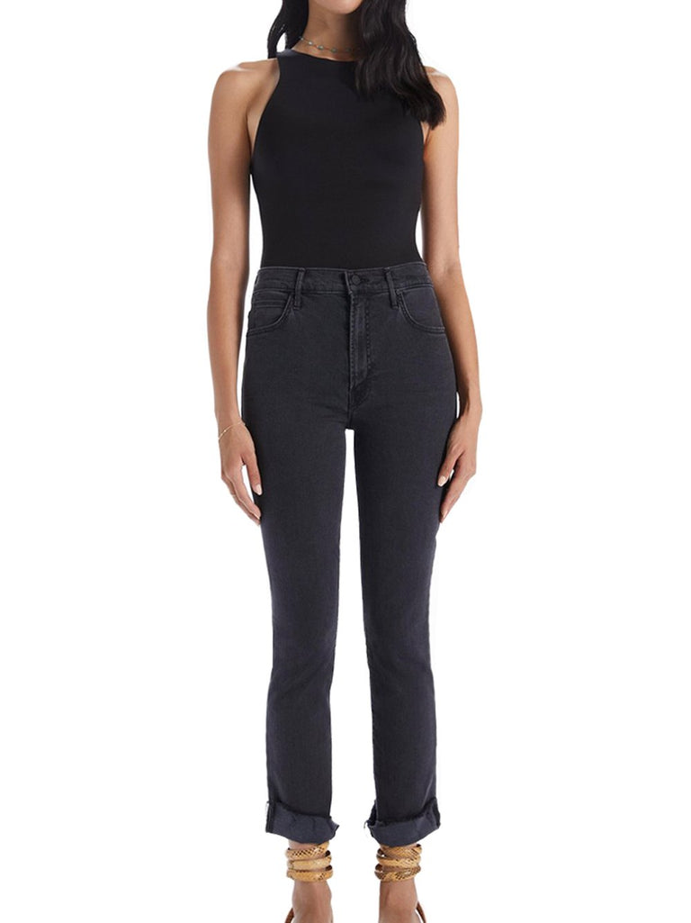 High Waisted Rascal Slit Cropped Flare