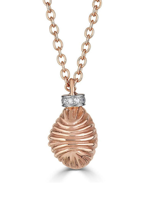 Thread and Shell Diamond Necklace