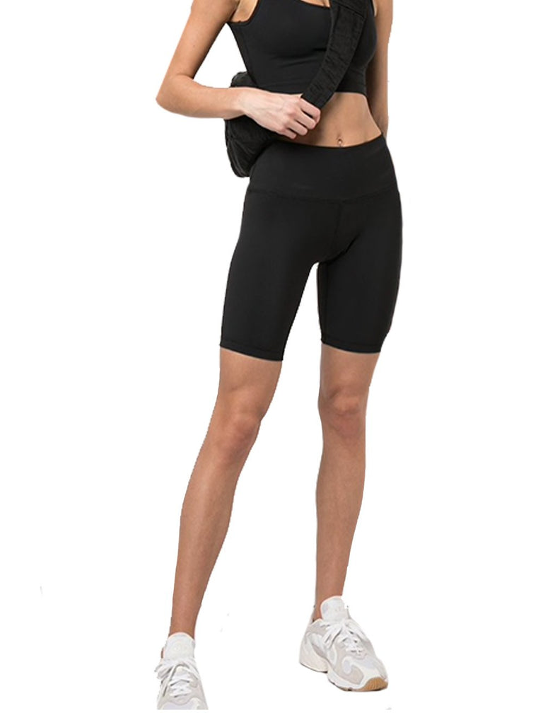 Bonded Stretch Biker Shorts