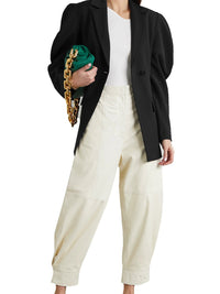 Tropical Wool Cutout Sleeve Blazer Photo 2