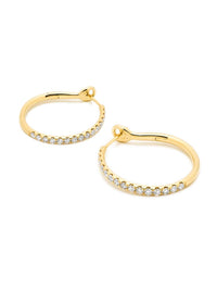 Yellow Gold Diamond Kaia Hoop Earrings Photo 2