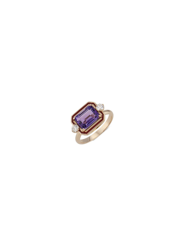 Volare Butterfly Amethyst Cocktail Ring