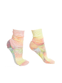 Rainbow Tie-Dye Velvet Socks Photo 1