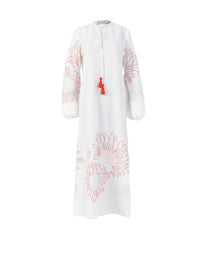 Mayfair Caftan Slide Slit Embroidered Dress Photo 1